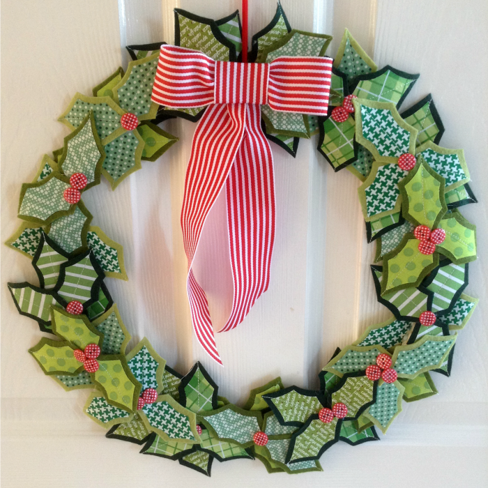 My Holly Christmas Wreath