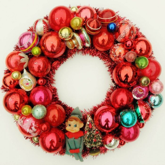 Recycled Christmas Wreath