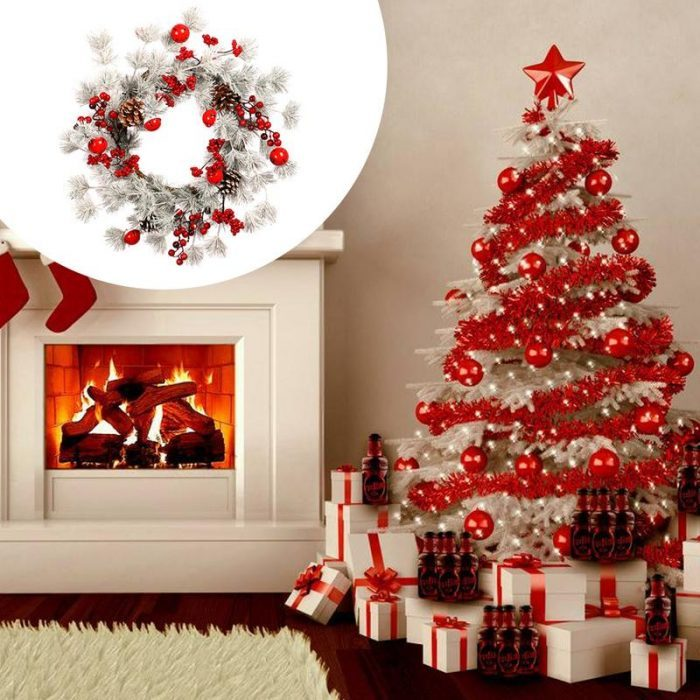 White And Red Christmas Tree Ideas