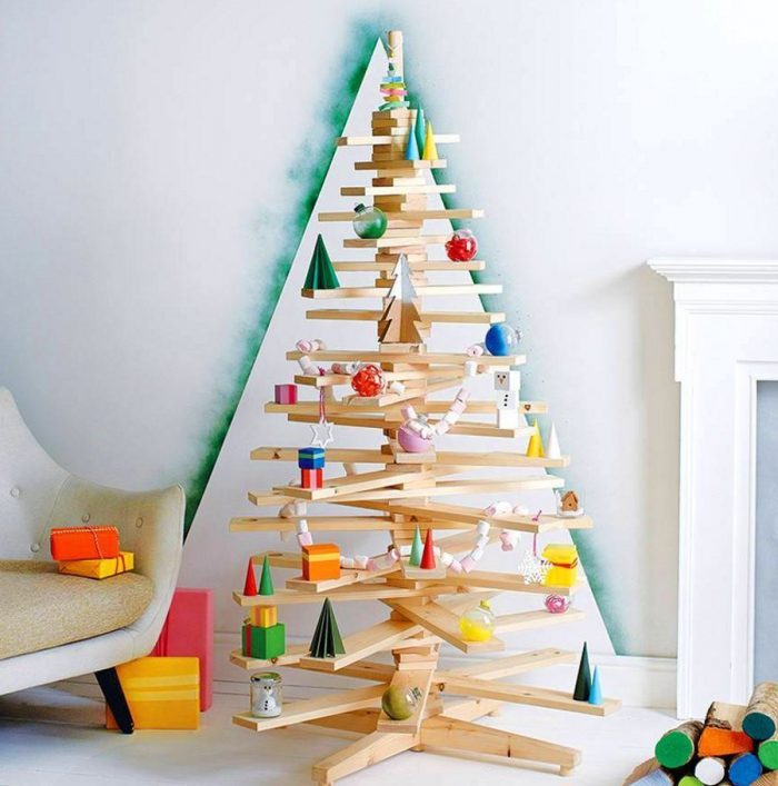 Wooden Stack Of Christmas Tree