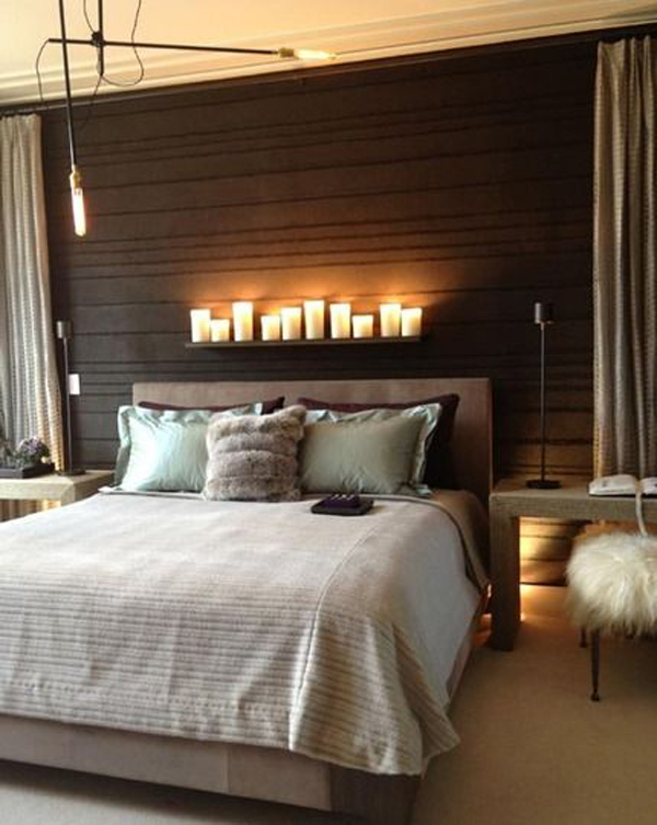 Candle lights to Romantic Bedroom