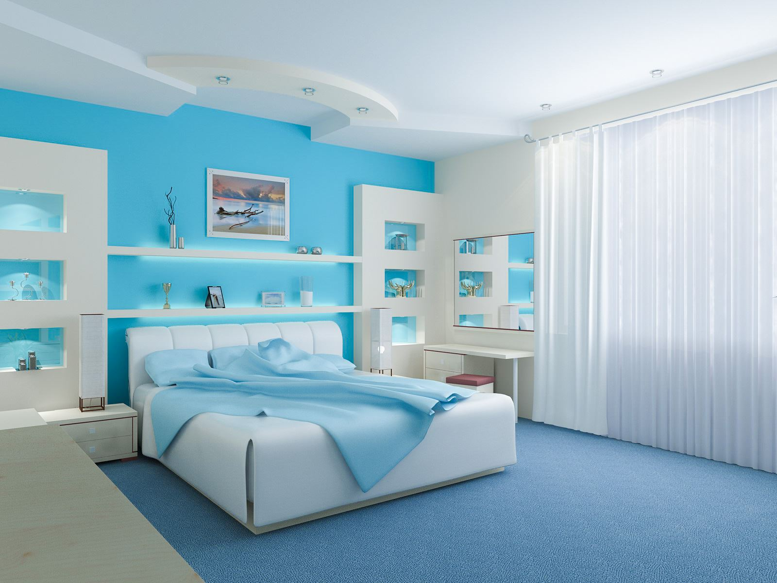 innovative blue white bedroom ideas teenage girls | 20 Sweet Teenage Girl Bedroom Ideas for your Home