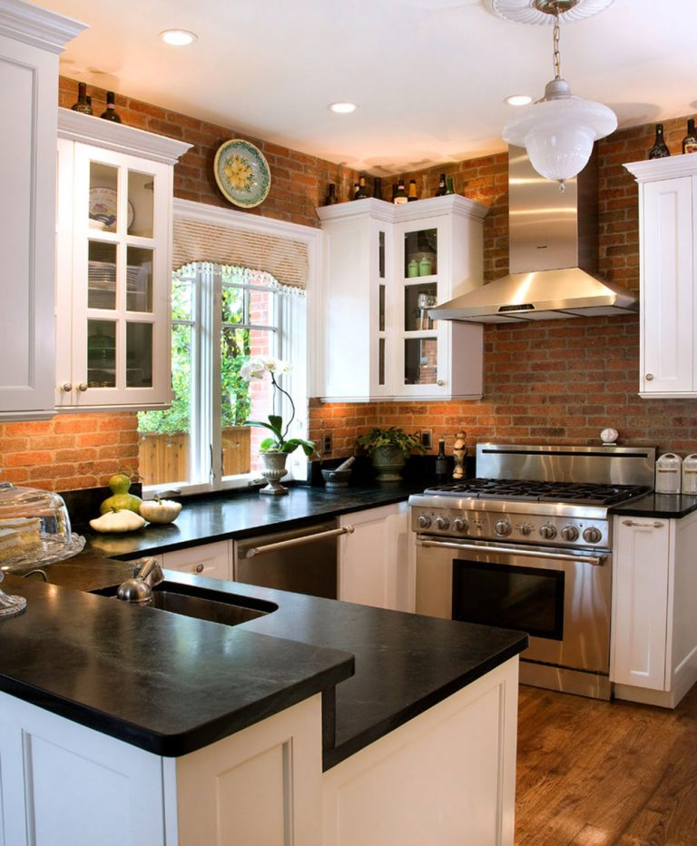 Bricks Backsplash That Gives Warmness - www