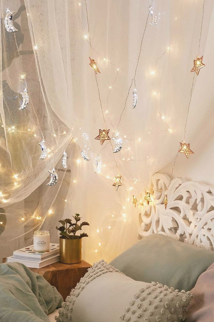Use fairy lights for bedroom