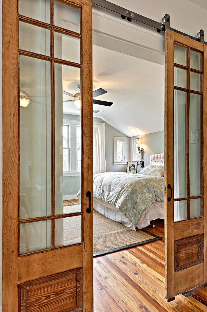 Change the bedroom door with wooden farmhouse door