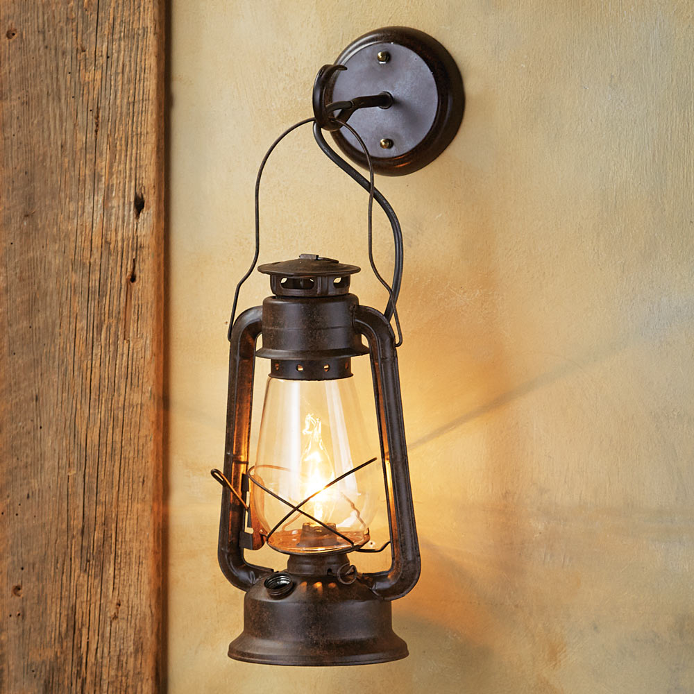 Use rustic sconce light for the bedroom