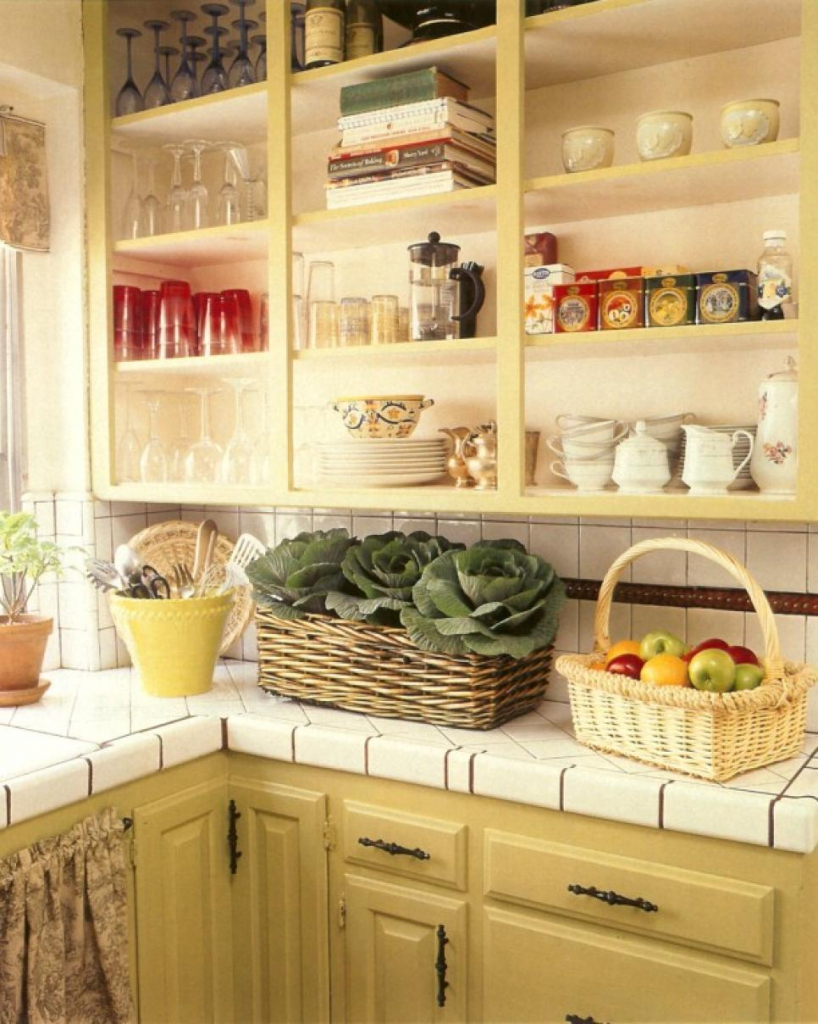 Kitchen Decor with Rustic Storage