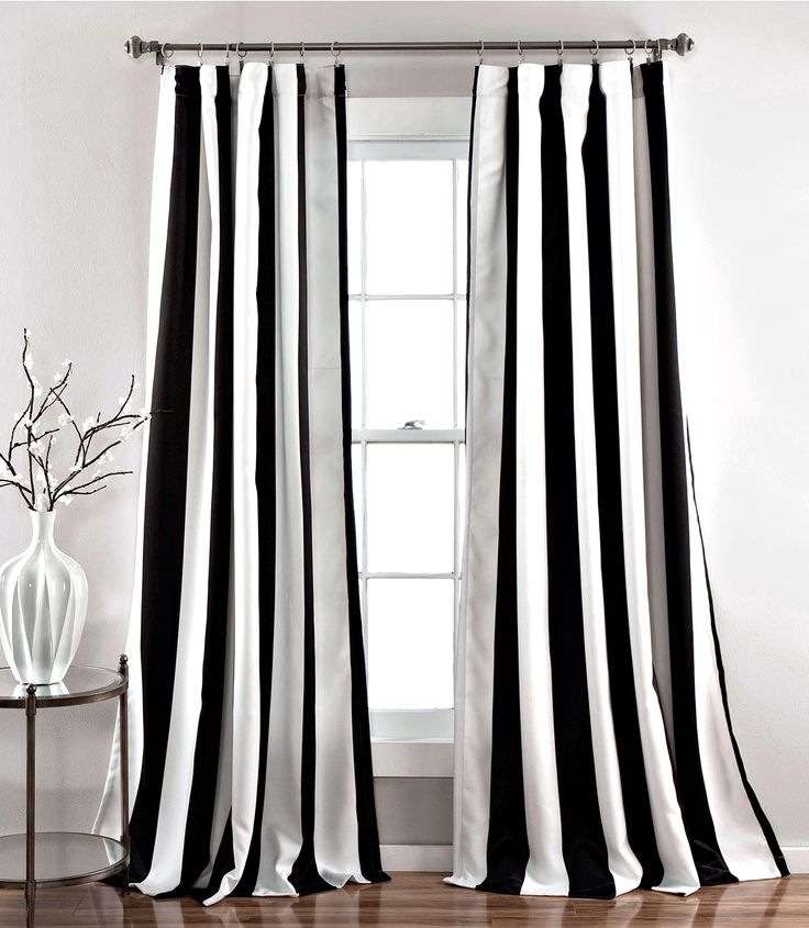 Stripe curtains for a bigger look