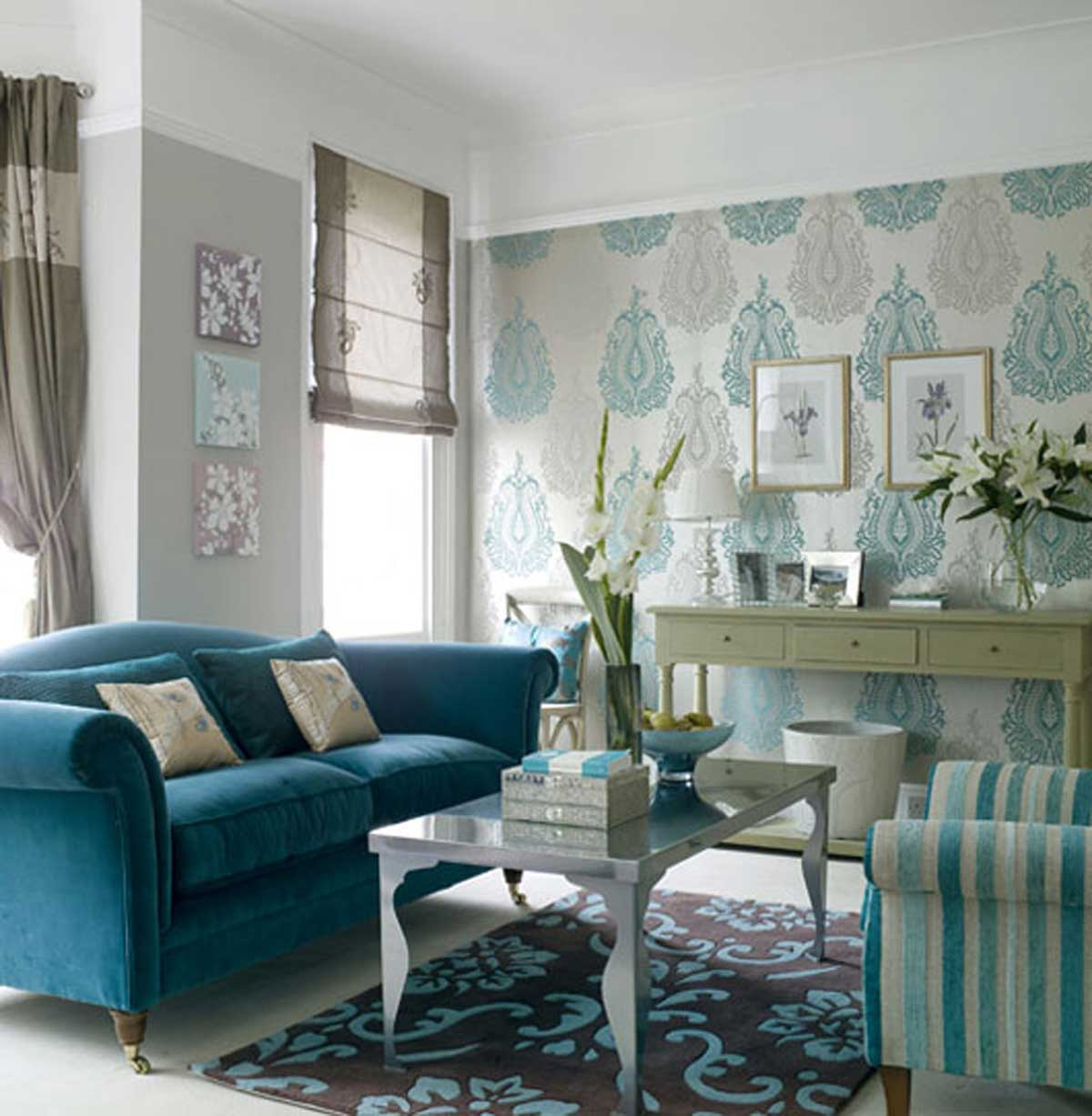Wallpaper Living Room Wall Decor Ideas
