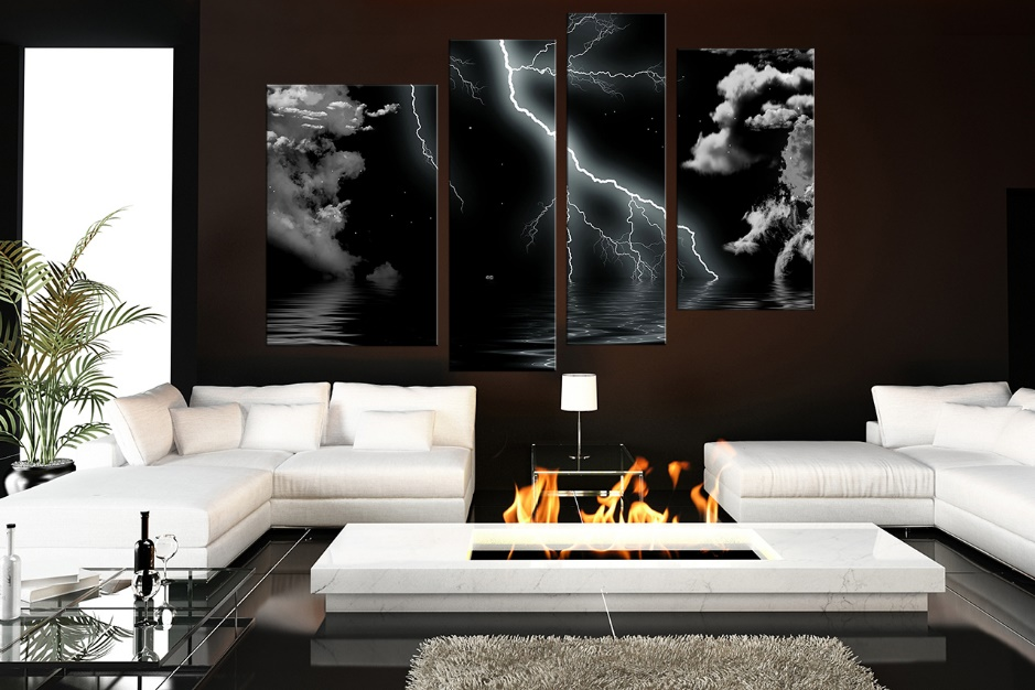 Abstract Living Room Wall Decor Ideas