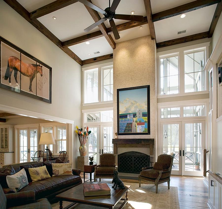 High Ceiling Luxury Living Room
