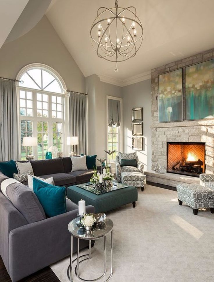 Adding Fireplace For Your Luxury Living Room