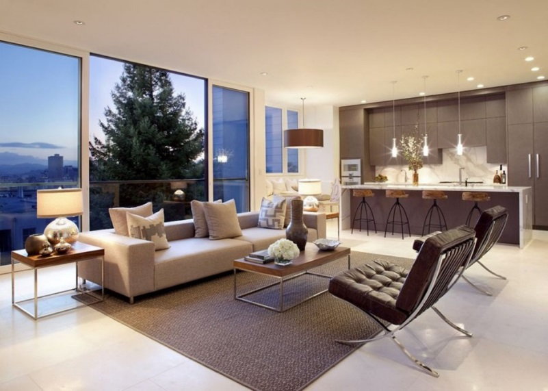 Metal Mid-Century Modern Living Room Ideas