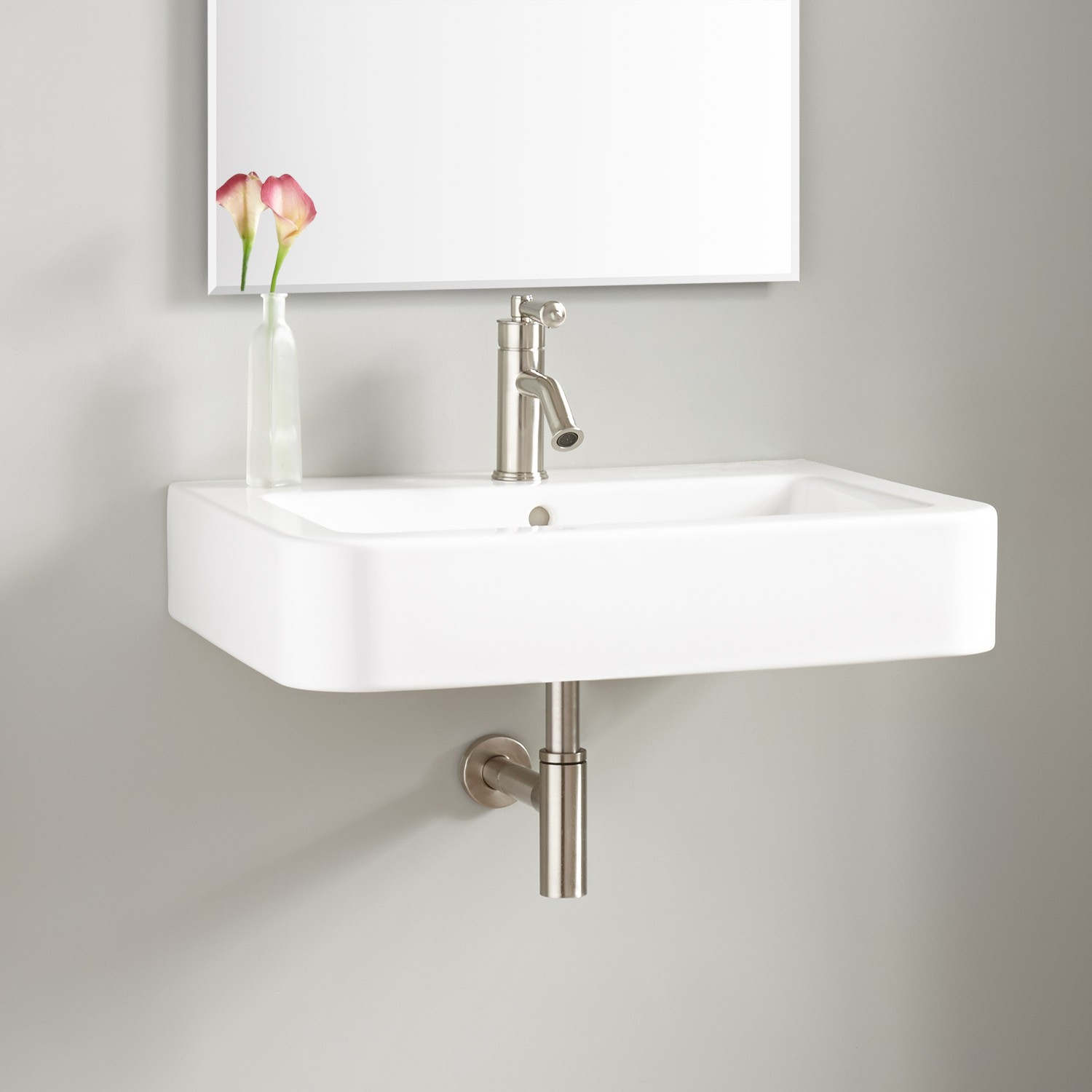 Wall-Mounted Sink for Extra Space