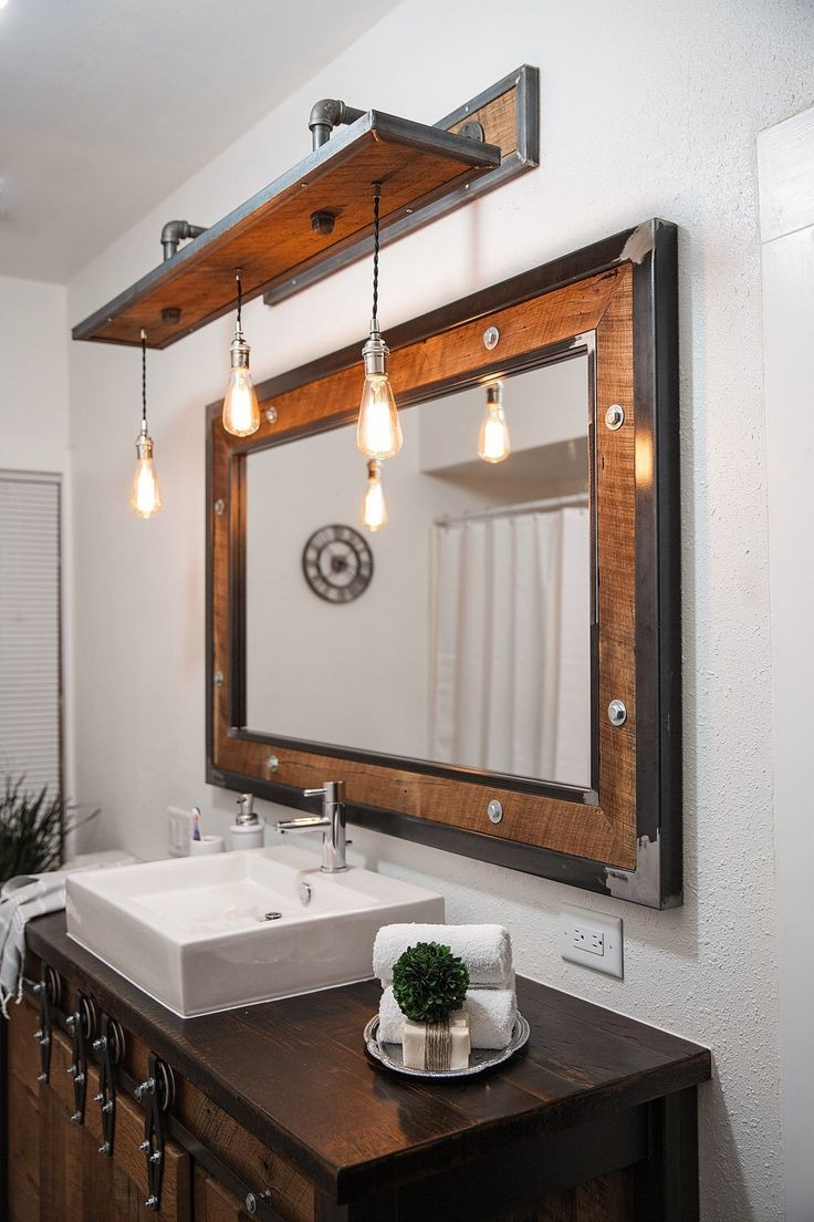 Vintage fixtures for a classy rustic bathroom
